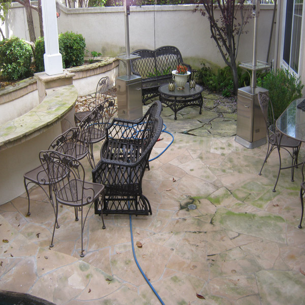 Pressure Washing Patio Before